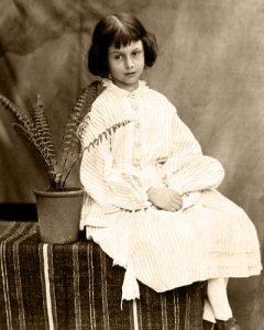 Imagen de la niña a quien se dedicó Alicia